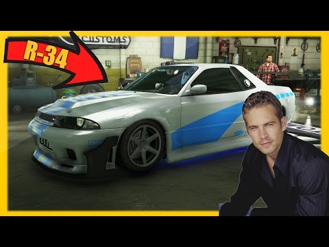 GTA 5 Paul Walker's Nissan Skyline R34! (GTA 5 Online Brian's Skyline Export-Import DLC Rare Car)