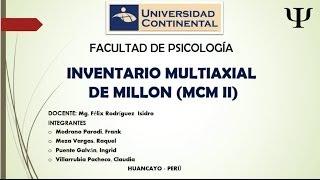 Test de Millon II