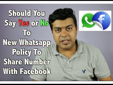 Hindi | Should Say Yes or No To New Whatsapp Share Your Number with Facebook
