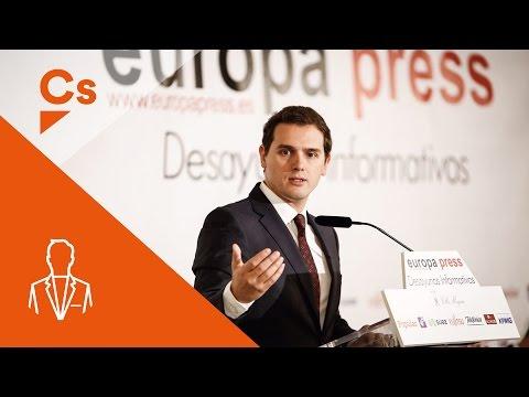 Albert Rivera. Desayuno informativo de Europa Press en Madrid