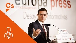 Albert Rivera. Desayuno informativo de Europa Press en Madrid
