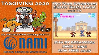 Tiny Toon Adventures: Buster Busts Loose! TAS by EZGames69 (TASGiving 2020)