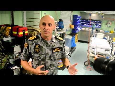 HMAS Canberra Navy Ship Media Tour