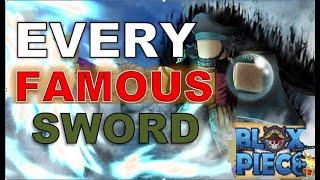 ROBLOX- BLOX-PIECE - EVERY LEGENDARY SWORD COMPARISON-
