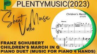 Schubert Franz | Children's March in G D928 for piano duet (piano 4 hands)