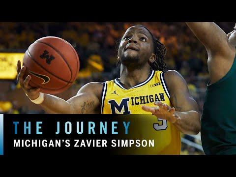 "zavier-simpson:-michigan's-""captain-hook""-|-b1g-basketball-|-the-journey"