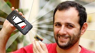 Como CARREGAR O CELULAR com bateria de 9V ( carregador de celular caseiro )