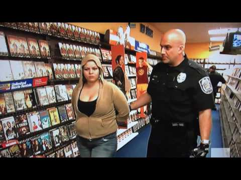 Arrested stealing DVDs at Blockbuster Video!