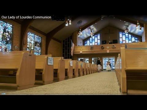 1st Communion, July 25, 2020, Our Lady of Lourdes