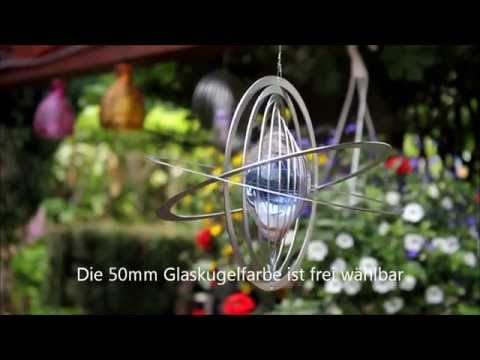 "Windspiel Mobile ""SATURN"" aus wetterfestem Edelstahl | Hamburg-Trade.de"