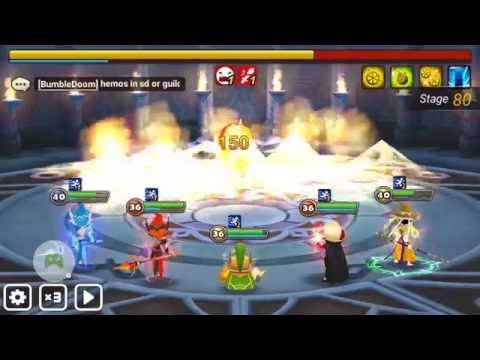 Summoners wars - TOA hard 80 seara not heal (tyron, baretta, verdehile, mav & wochi)