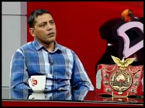 Ali Jacko in Live TV Talk Show Interview on Channel 24 in Bangladesh with Presenter Sabir