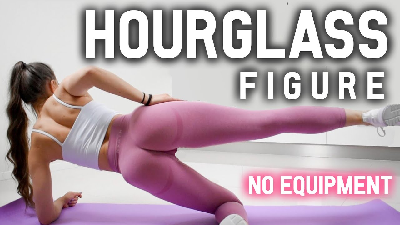 15 MIN HOURGLASS FIGURE WORKOUT | Tiny Waist, Round Hips & Booty | At Home No Equipment