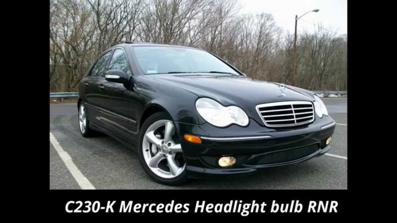 How to change a headlight bulb in an 05 c230 mercedes benz for Mercedes benz headlight bulb