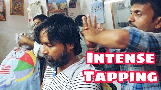 Strong tapping head massage by Reiki Master's staff   Indian Massage
