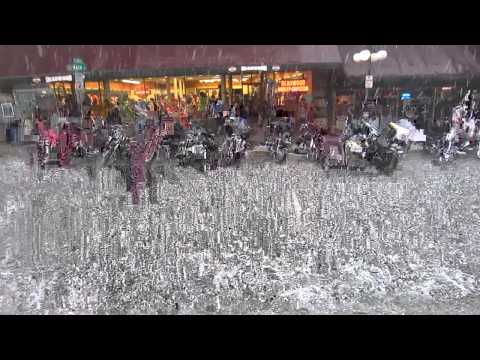 Deadwood Hailstorm during Sturgis Rally (Aug 2012)