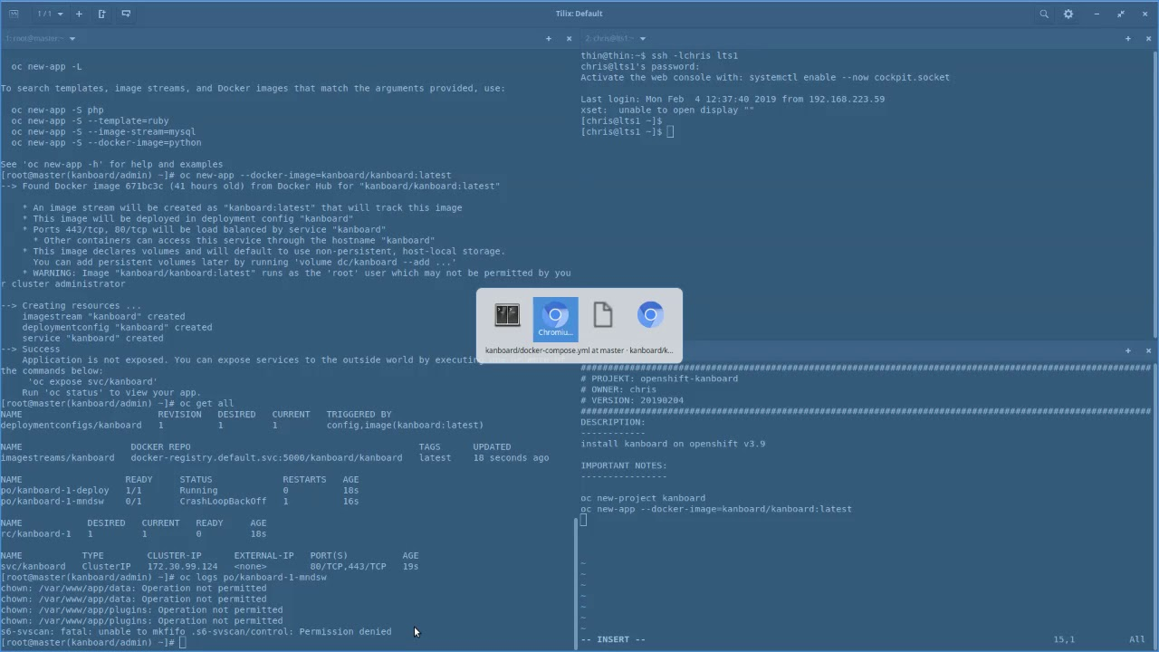OpenShift Kanban APP