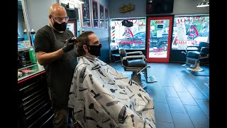 See the coronavirus safety modifications at this reopened 1940s Sacramento barbershop