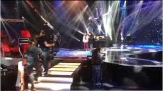 """Raphael y Mario. El ensayo de """"La voz""""/ 21-12-2016. www.telecinco.es"""