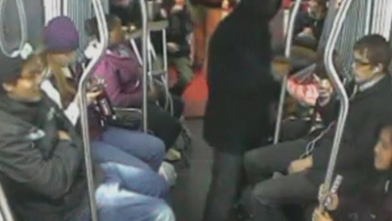 Bus robbery fail: Passengers pin armed robber to the ground