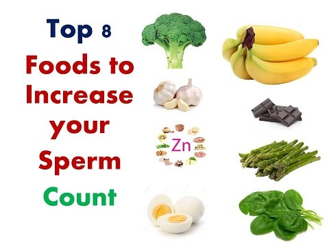 Foods to increase sperm volume