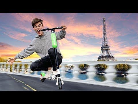 Mit ELEKTRO-SCOOTERN durch Paris! (Beyblade)