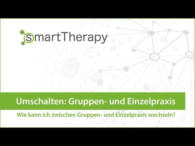 smartTherapy: Umschalten Einzel- & Gruppenkalender