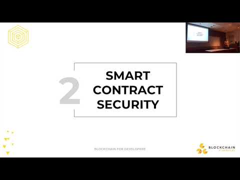Smart Contract Security - Blockchain for Developers [Lecture