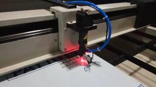 laser cutting machine cutting 6mm PVC die board