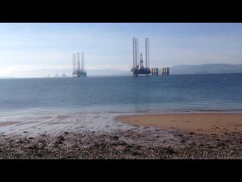 Cromarty Firth Scotland and the oil rigs