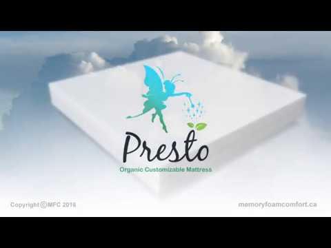 Presto Bed Organic Latex Customizable Mattress - Canada