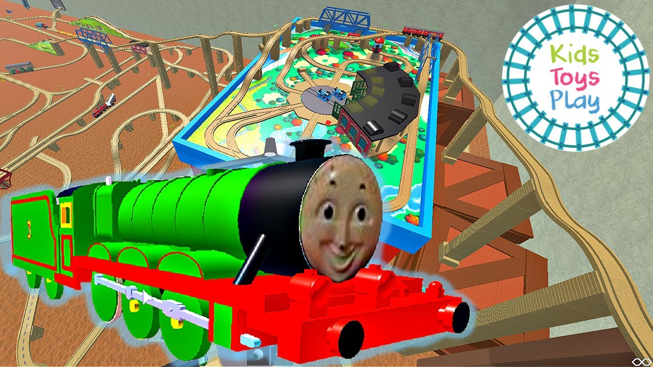 Let's Play Thomas Wooden Railway Room on Roblox!
