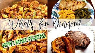 WHAT'S FOR DINNER + HOW TO MAKE FAJITAS | Cook Clean And Repeat