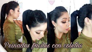 Peinados con Coletas Faciles | 4 opciones