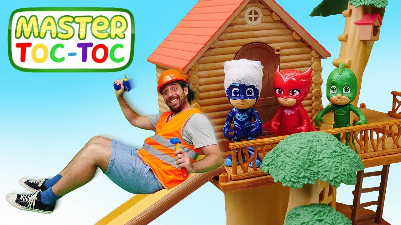 Vidéo pour enfants : Master Toc-Toc aide les Pyjamasques à construire un toboggan. Épisode #53