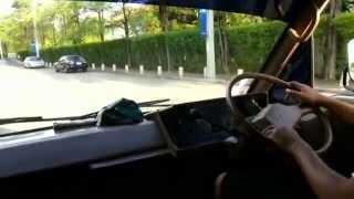 Driving Toyota Hiace 1985