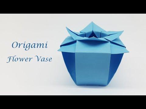 How to make Paper Flower Vase - Mini 3D Origami Vase
