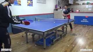 Table Tennis Diary - 20150112 Lesson Grip & Drive for backspin ball
