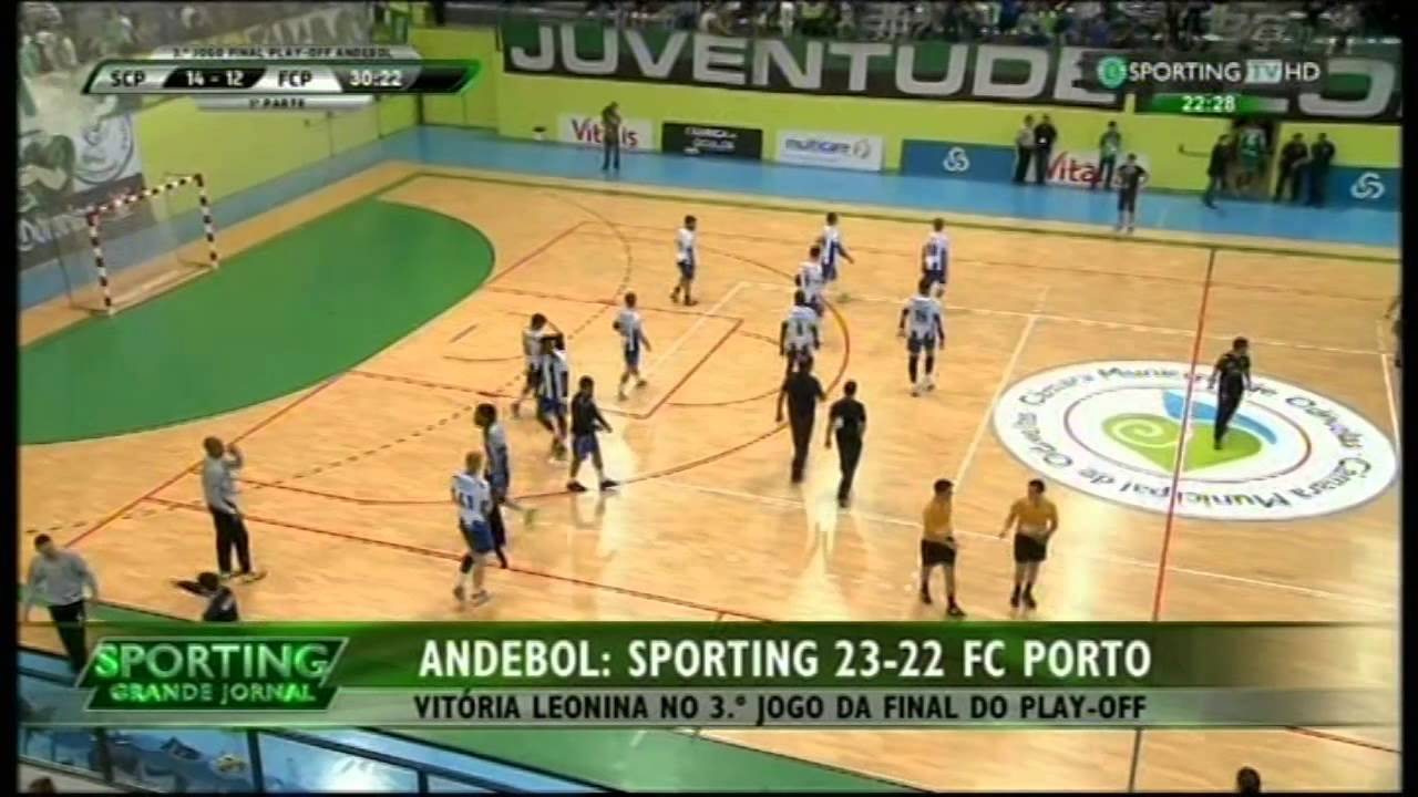Andebol :: Play-off Final 3Jogo :: Sporting - 23 x Porto - 22 de 2014/2015