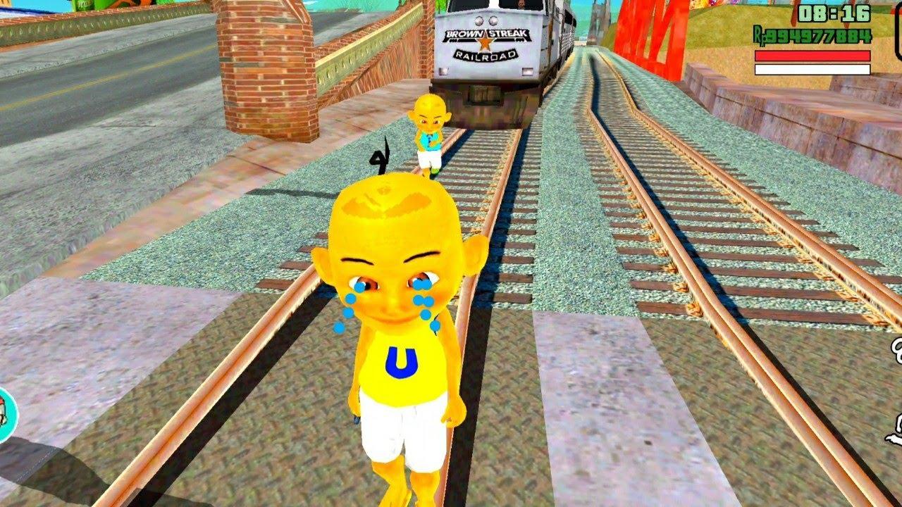 Download Upin menangis Ipin di tabr4k kereta 😭 Oyanio Tv