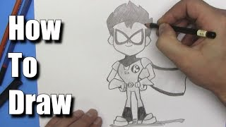 How To Draw Robin From Teen Titans Go! - Step By Step
