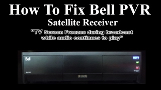 Bell Satellite Receiver  Fix -  How to  Fix Picture Freeze Issue with PVR Model