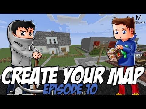 Create Your Map | Maison familiale / Arret de bus | Episode 10 / Minecraft