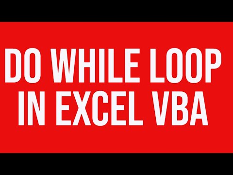 Do while loop excel vba - revisited