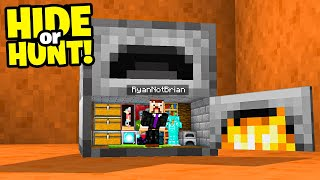 SECRET Minecraft Furnace Base! (Hide or Hunt)