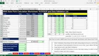 Excel Magic Trick 1017: BMX State Point Calculation Worksheet: VLOOKUP and Data Validation List