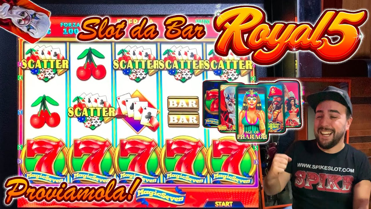 SLOT MACHINE da BAR - Proviamo la ROYAL 5 ? (Multigioco Cristaltec)