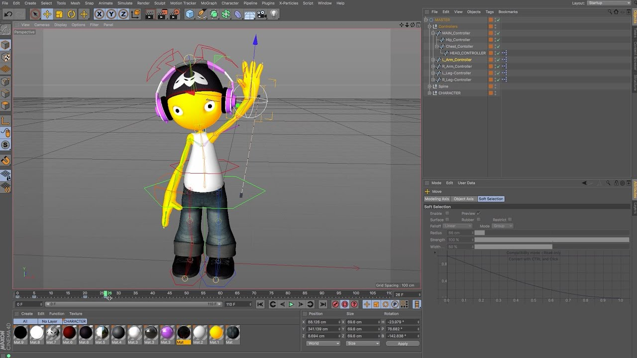 Character Design Cinema 4d Tutorial : Cinema d tutorial character animation wave youtube