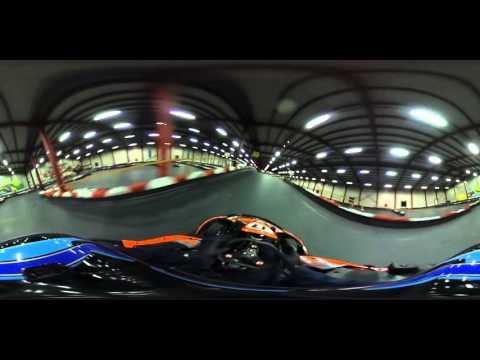 Karting 360 video recording with the Ricoh Theta S - raw footage