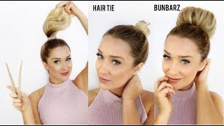 Easy Hair Buns in Seconds without Bobby Pins! How to Use the Bun Barz by Pony-O!
